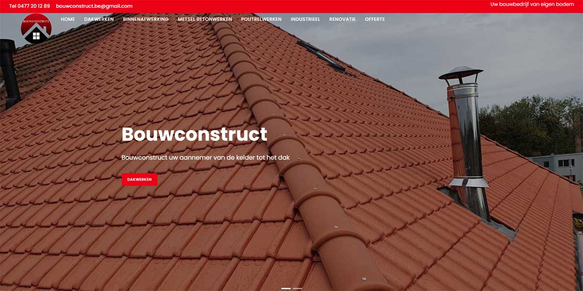 Websiteproject Bouwconstruct